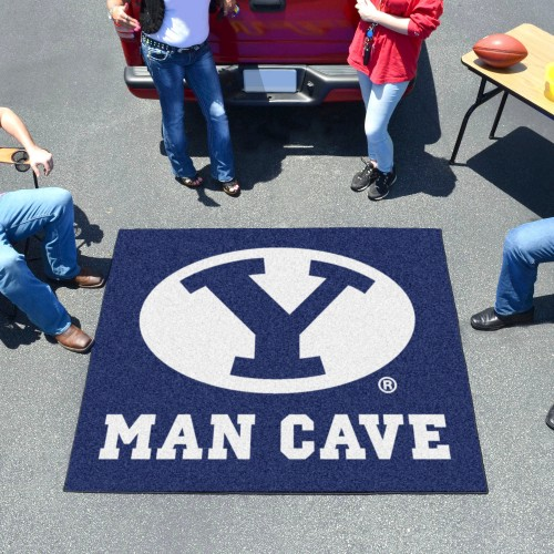 Brigham Young Man Cave Tailgater Rug 5'x6'