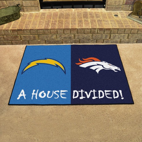 NFL - Chargers - Broncos House Divided Rug 33.75