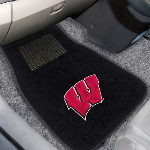 Wisconsin 2-pc Embroidered Car Mats 18
