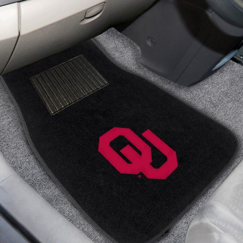 Oklahoma 2-pc Embroidered Car Mats 18
