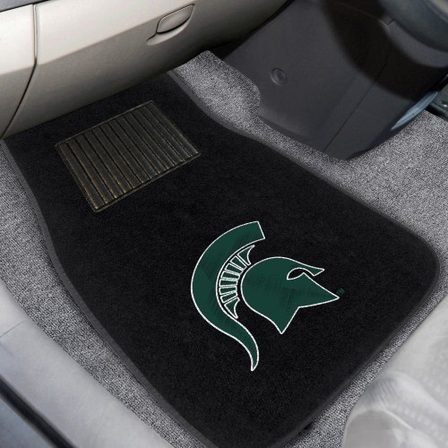 Michigan State 2-pc Embroidered Car Mats 18