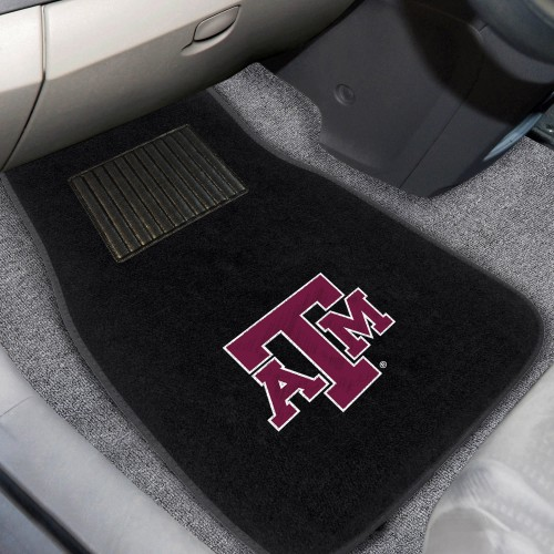 Texas A&M 2-pc Embroidered Car Mats 18