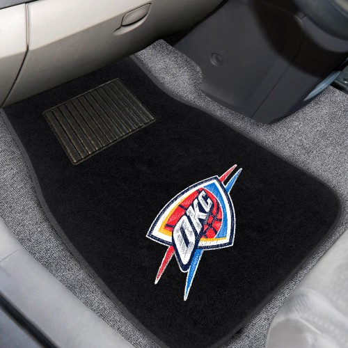 NBA - Oklahoma City Thunder 2-pc Embroidered Car Mats 18