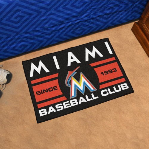 Florida Marlins Baseball Club Starter Rug 19