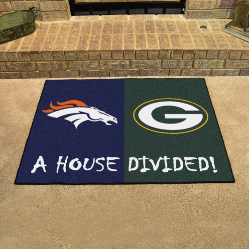 NFL Broncos - Packers House Divided Rug 33.75