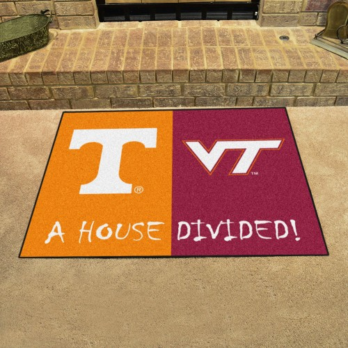 Tennessee - Virginia Tech Divided Rug 33.75