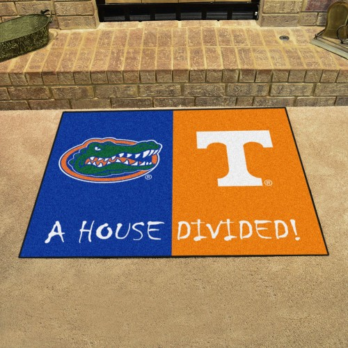 Florida - Tennessee House Divided Rug 33.75