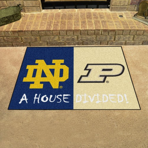 Notre Dame - Purdue House Divided Rug 33.75