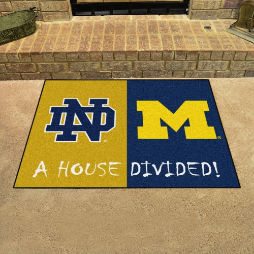 Notre Dame - Michigan House Divided Rug 33.75