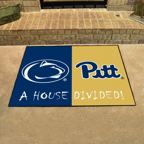 Penn State - Pittsburgh House Divided Rug 33.75