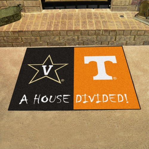 Vanderbilt - Tenneessee House Divided Rug 33.75