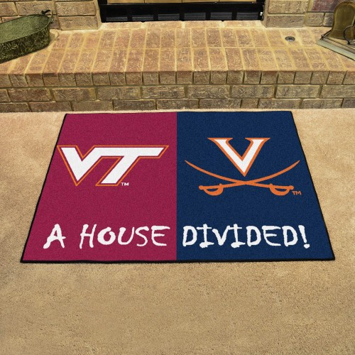 Virginia Tech - Virginia House Divided Rug 33.75