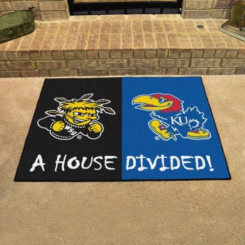 Wichita State - Kansas House Divided Rug 33.75