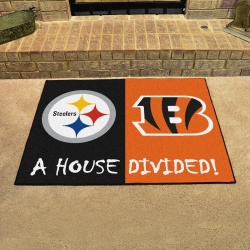 NFL - Steelers - Bengals House Divided Rug 33.75