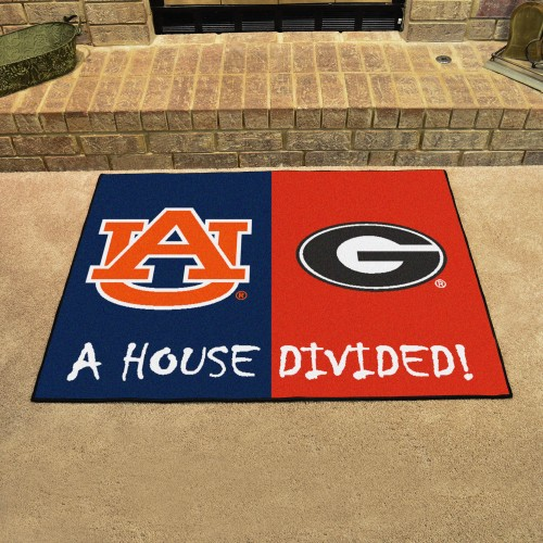 Auburn - Georgia House Divided Rug 33.75