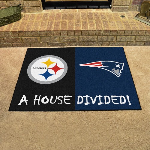 NFL - Steelers - Patriots House Divided Rug 33.75