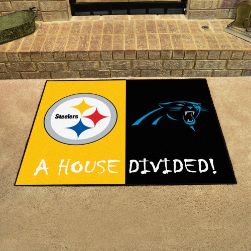 NFL - Steelers - Panthers House Divided Rug 33.75