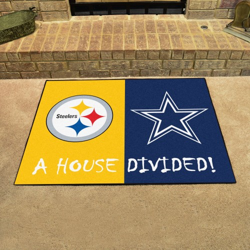 NFL - Steelers - Cowboys House Divided Rug 33.75