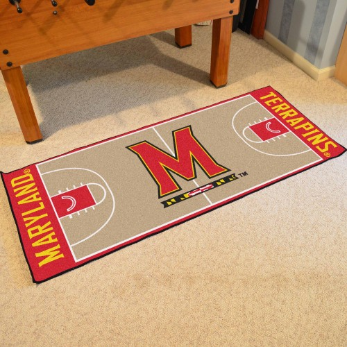 Maryland Basketball Court Runner 30