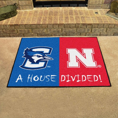Creighton - Nebraska House Divided Rug 33.75