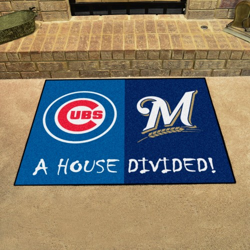 MLB - Cubs - Brewers House Divided Rug 33.75