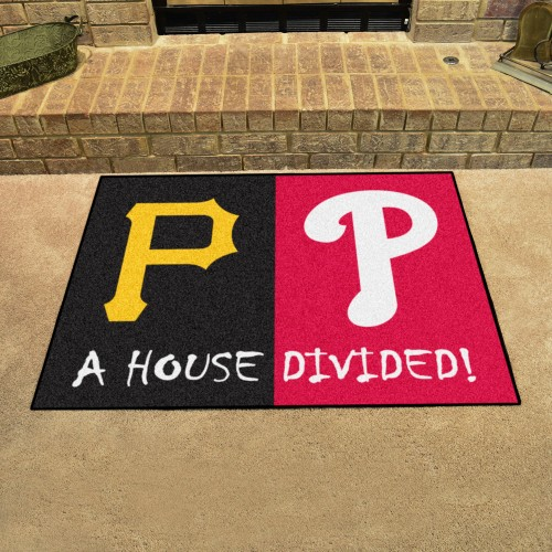 MLB - Phillies - Pirates House Divided Rug 33.75