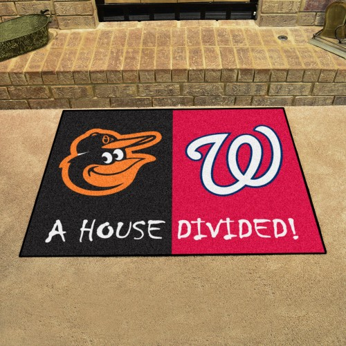 MLB - Orioles - Nationals House Divided Rug 33.75