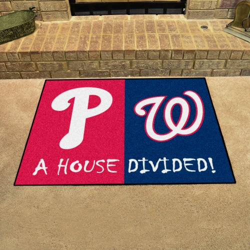 MLB - Phillies - Nationals House Divided Rug 33.75