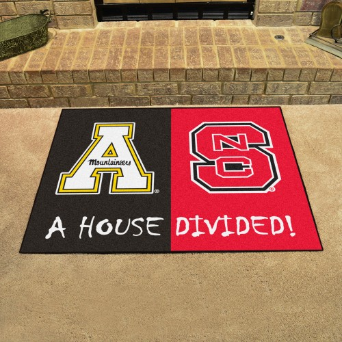 NC State - Appalachian State Divided Rug 33.75