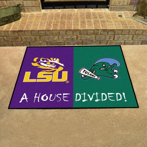 LSU - Tulane Divided Rug 33.75