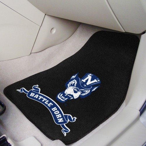 Nevada 'Battle Born' 2-pc Carpeted Car Mats 17