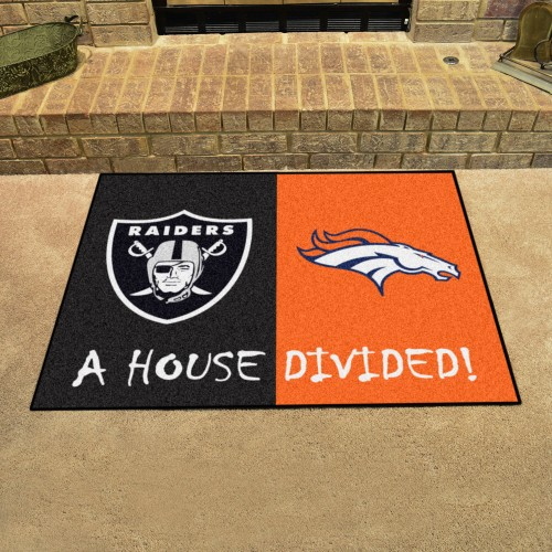 NFL - Raiders - Broncos House Divided Rug 33.75