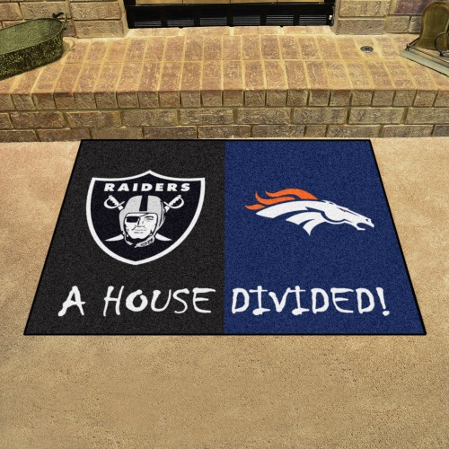 NFL - Broncos - Raiders House Divided Rug 33.75