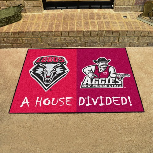 New Mexico - New Mexico State Divided Rug 33.75