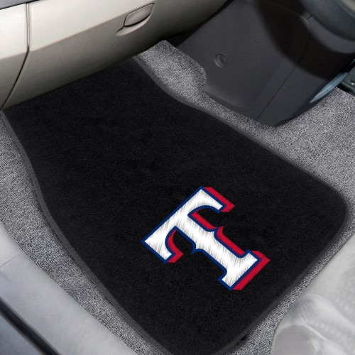 MLB - Texas Rangers 2-pc Embroidered Car Mats 18