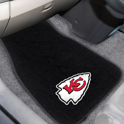 NFL - Kansas City Chiefs 2-pc Embroidered Car Mats 18