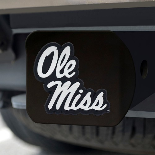 Ole Miss Black Hitch Cover 4 1/2