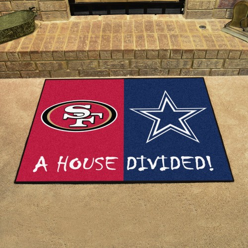 NFL - 49ers - Cowboys House Divided Rug 33.75