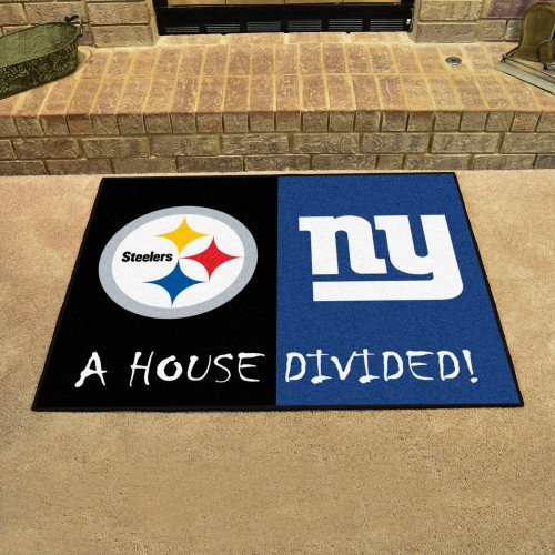 NFL - Steelers - Giants House Divided Rug 33.75