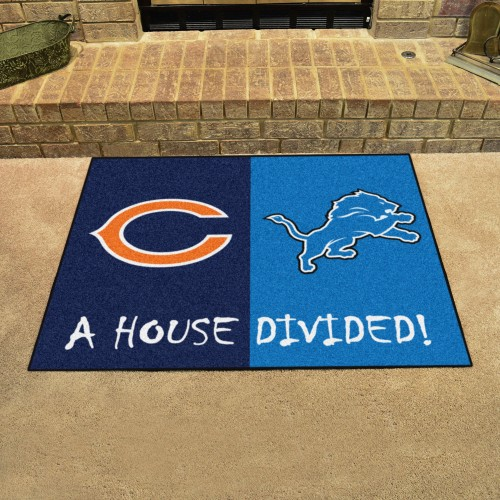 NFL - Bears - Lions House Divided Rug 33.75