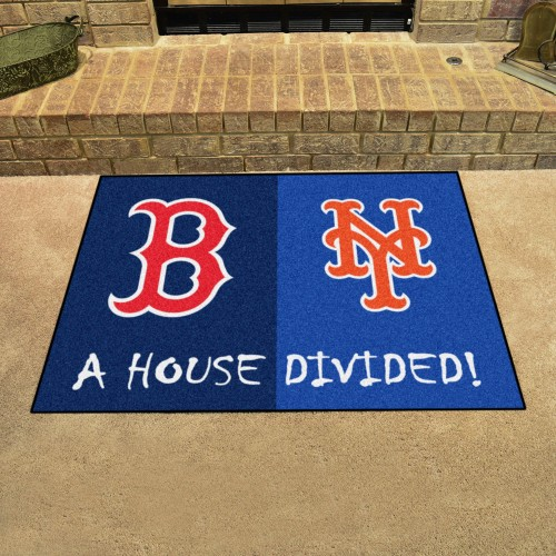 MLB - Red Sox - Mets House Divided Rug 33.75