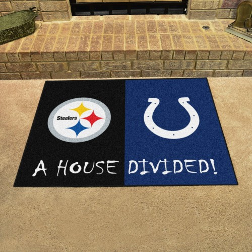 NFL - Steelers - Colts House Divided Rug 33.75