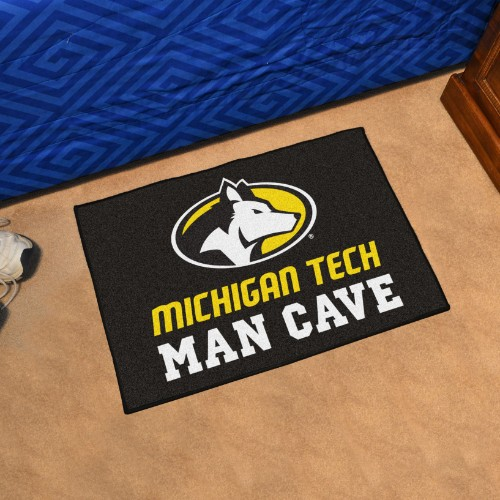 Michigan Tech University Man Cave Starter Rug 19