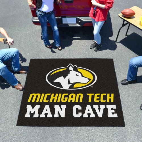 Michigan Tech University Man Cave Tailgater Rug 5'x6'