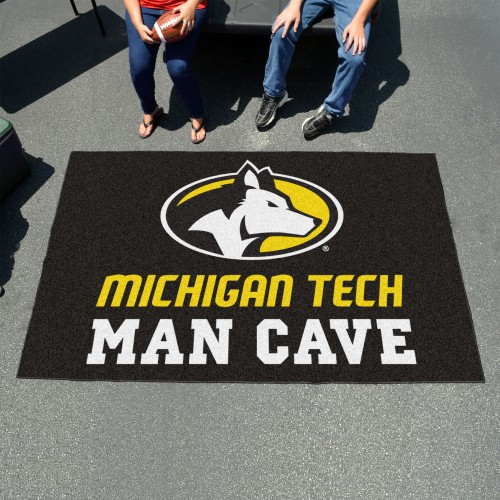 Michigan Tech University Man Cave UltiMat 5'x8' Rug