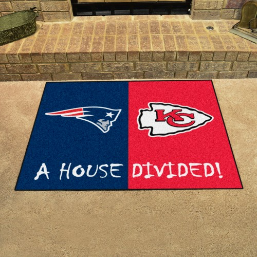 NFL - Patriots - Cheifs House Divided Rug 33.75