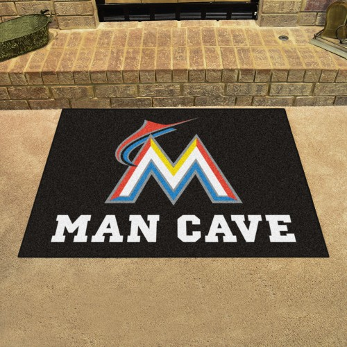 MLB - Miami Marlins Man Cave All-Star Mat 33.75