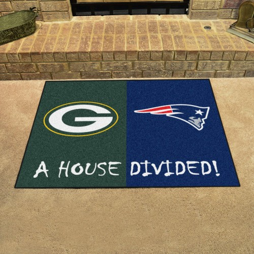 NFL - Packers - Patriots House Divided Rug 33.75