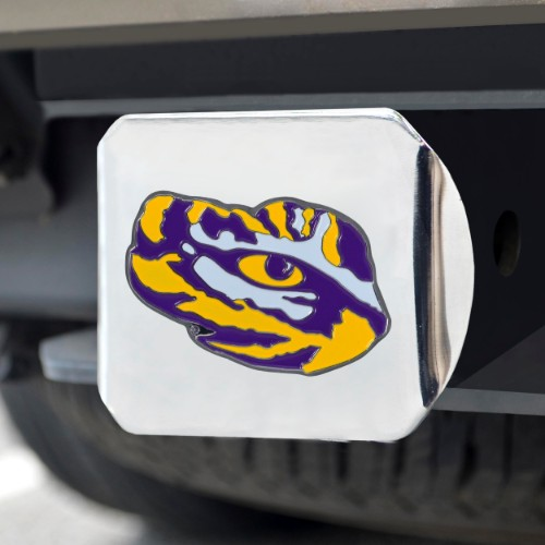 Louisiana State University Color Hitch Chrome 3.4