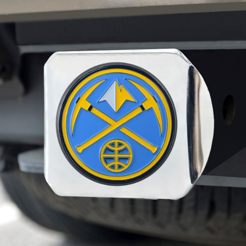 NBA - Denver Nuggets Color Hitch Chrome 3.4